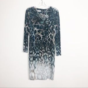 KAY UNGER NEW YORK LEOPARD PRINT DRESS 8 like new